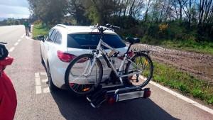 transporte bicicletasen el camino de santiago de pedrafita a santiago 2016